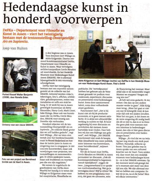 Dagblad van het Noorden, 3 oktober 2014