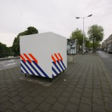 2 Sil Krol - White box with Blue and Orange stripes, 2010